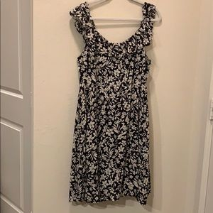 NWT Black and white floral dress